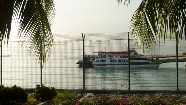 Ferry awaiting at Singapore