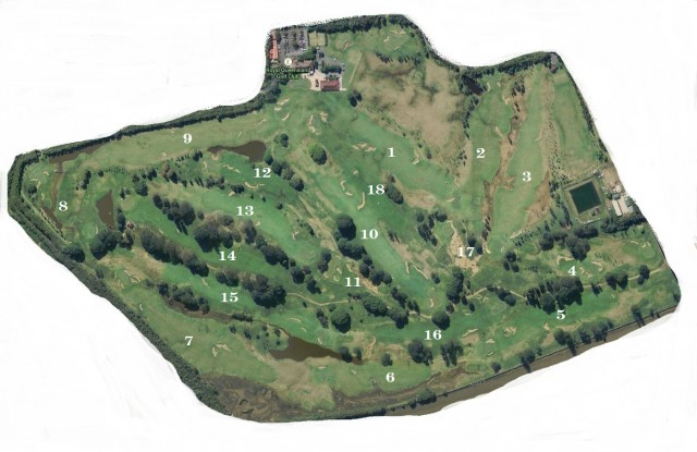 Course map for Royal Queensland Golf Club
