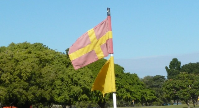 Pin flag at Royal Queensland Golf Club