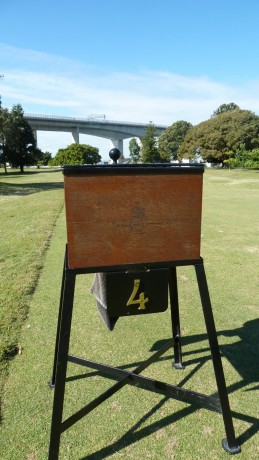 Hole marker at Royal Queensland Golf Club