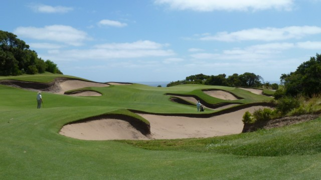 The 18th fairway at The National Golf Club Old Course