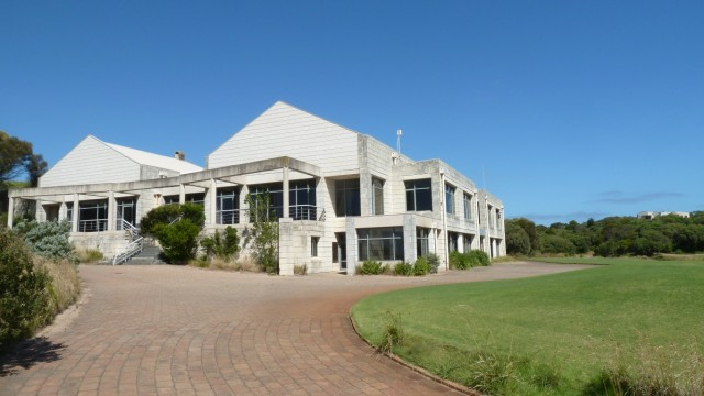 The old clubhouse at The National Golf Club