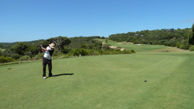 Dave teeing off on the 3rd at The National Golf Club Old Course