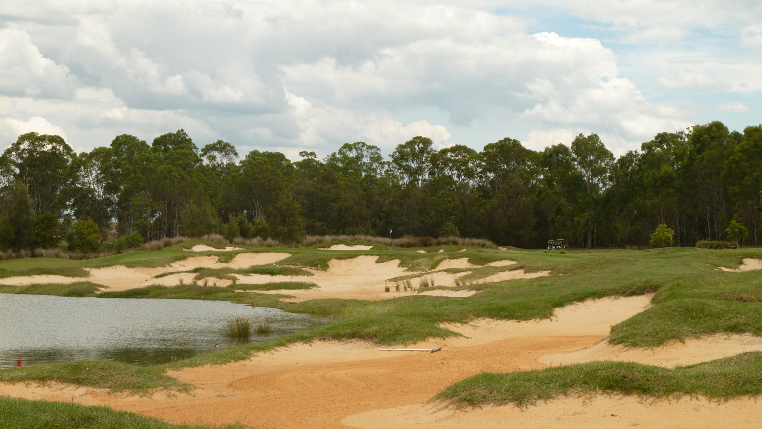 The 1st fairway at Twin Creeks Golf & Country Club