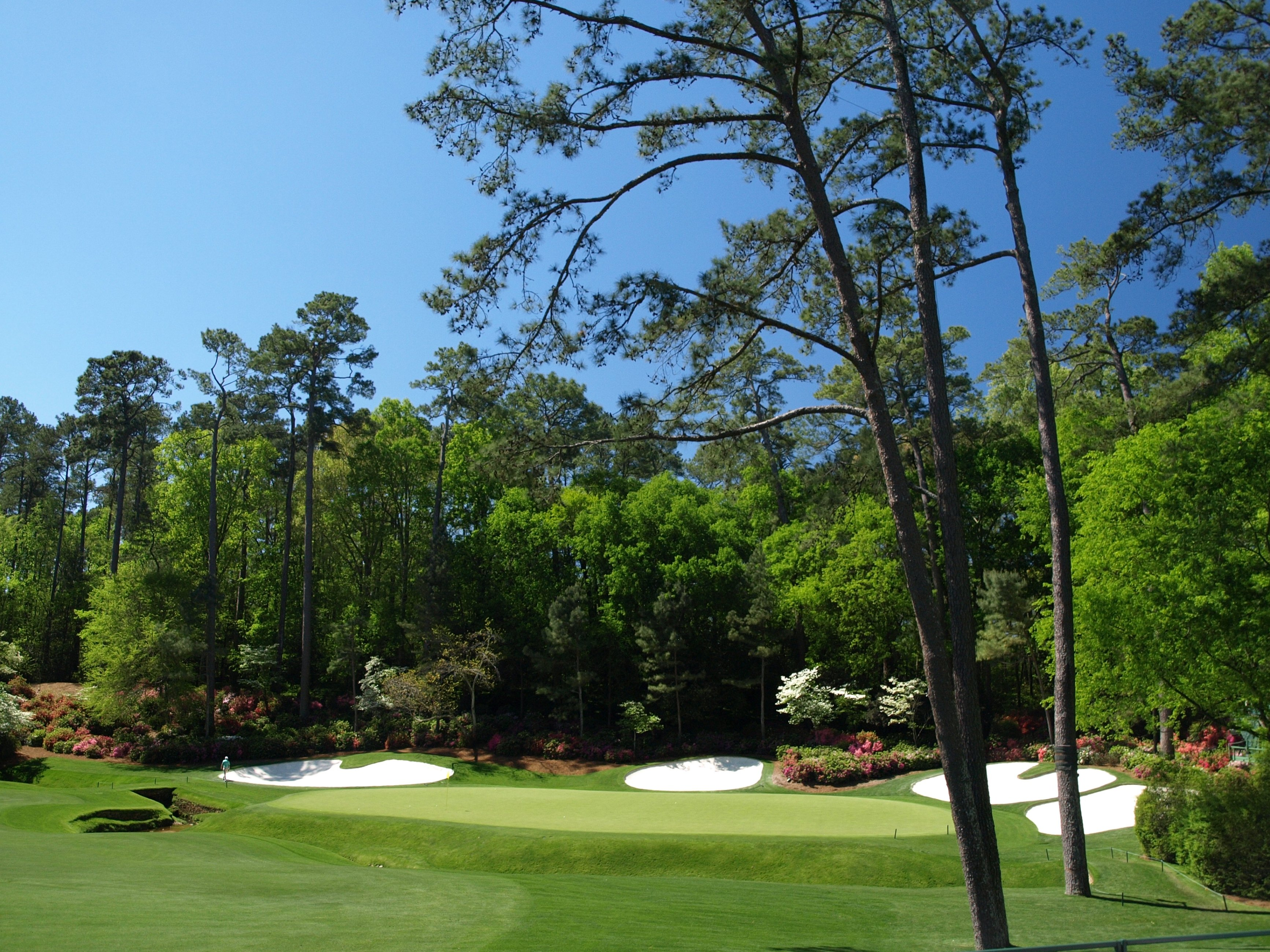 The 13th green at Augusta National Golf Club
