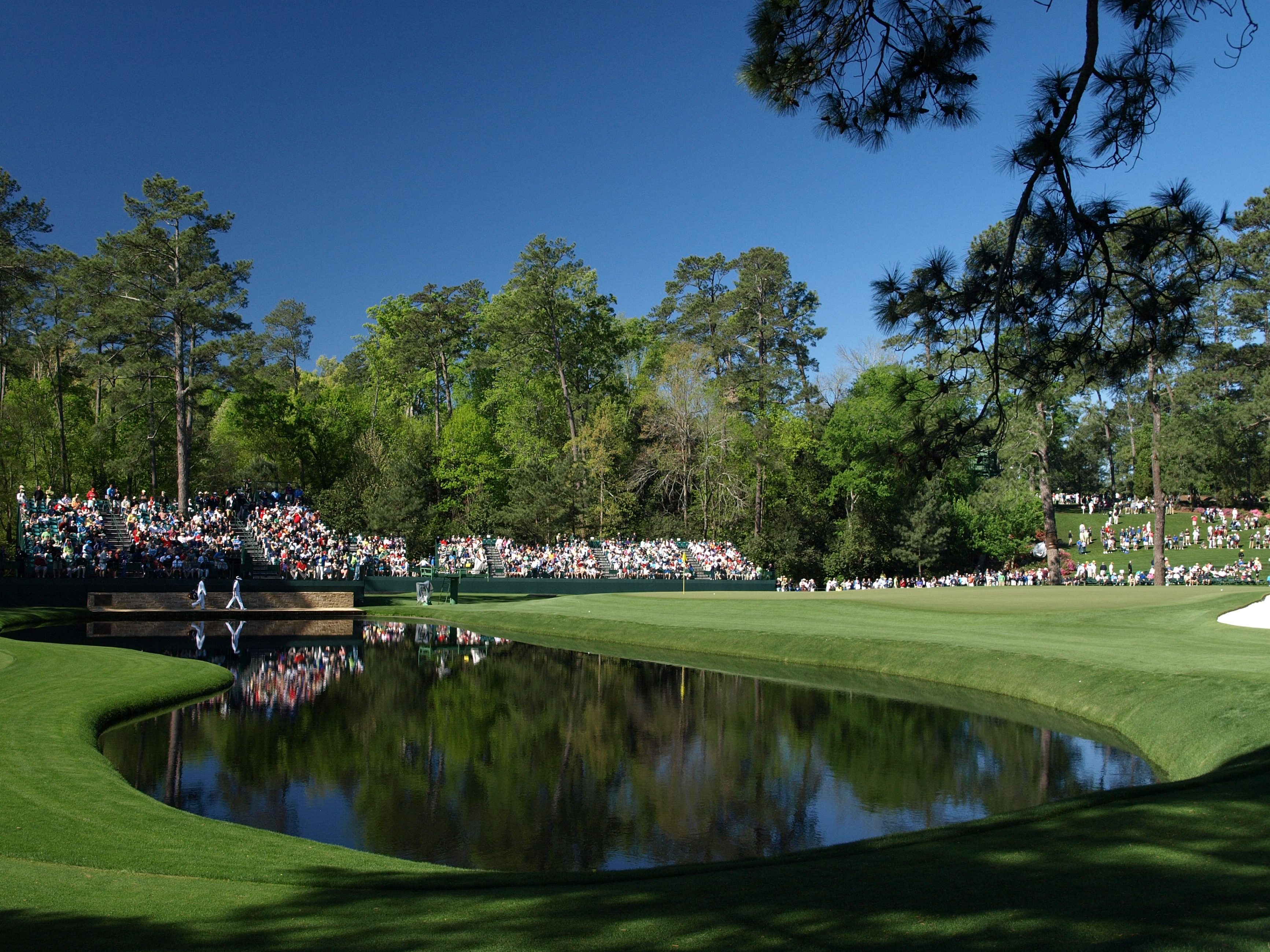 The pond on the 15th at Augusta National Golf Club