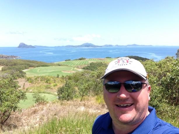 Me at the 14th tee Hamilton Island Golf Club