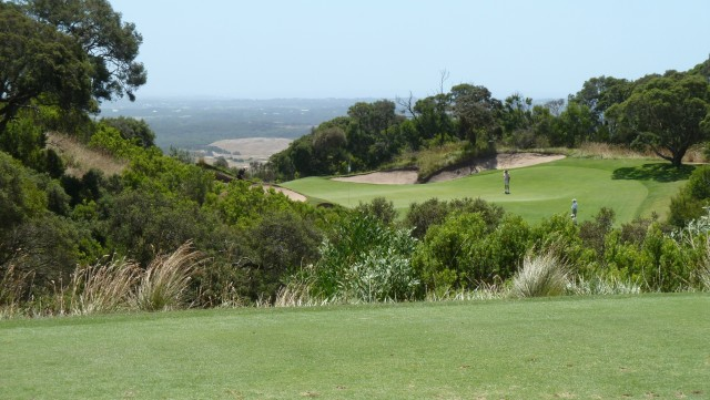 The 16th tee at The National Golf Club Old Course