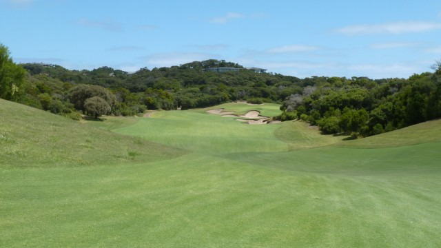 The 17th fairway at The National Golf Club Old Course