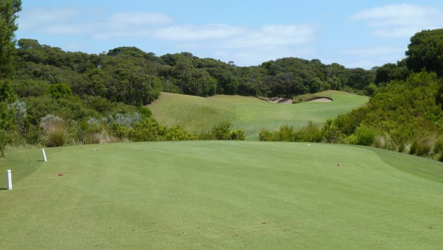 The 18th tee at The National Golf Club Old Course