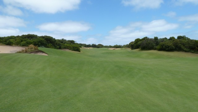 The 9th fairway at The National Golf Club Old Course