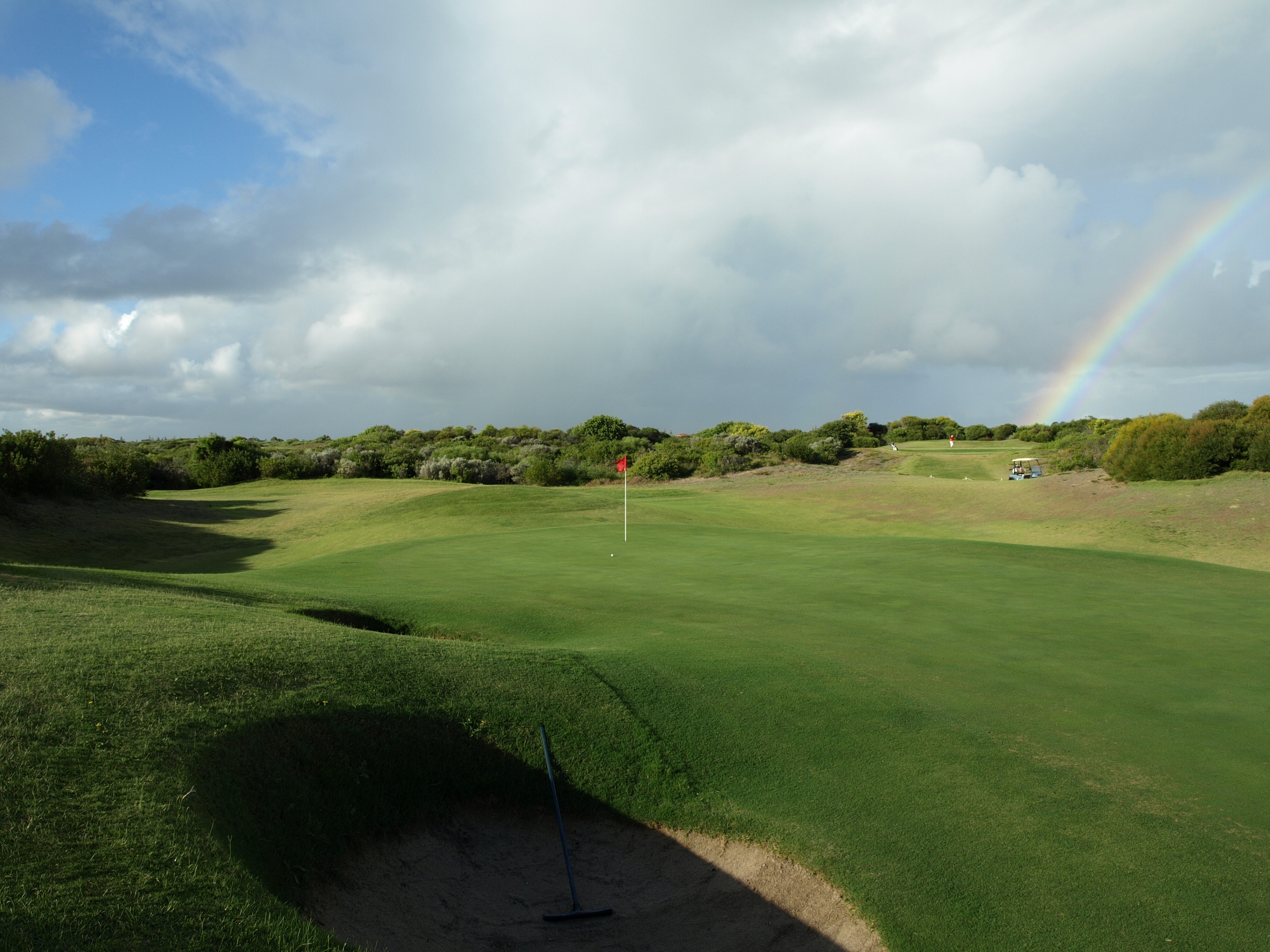The 16th green at Links Kennedy Bay