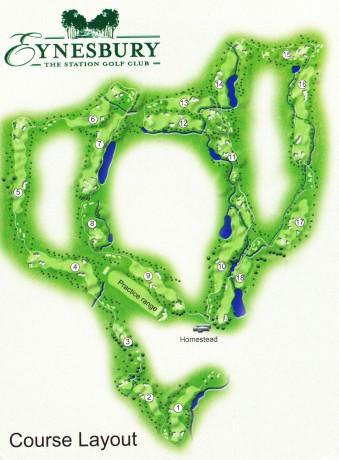 Map of Eynesbury Golf Club