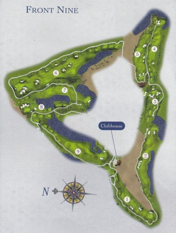 The front nine map for the Ocean Club
