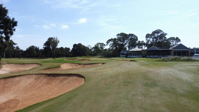 The 18th fairway at Kooyonga Golf Club