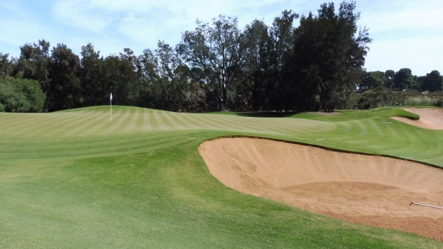 The 2nd green at Kooyonga Golf Club