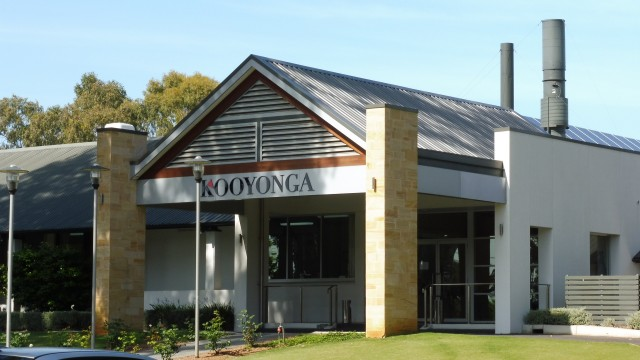 The clubhouse at Kooyonga Golf Club