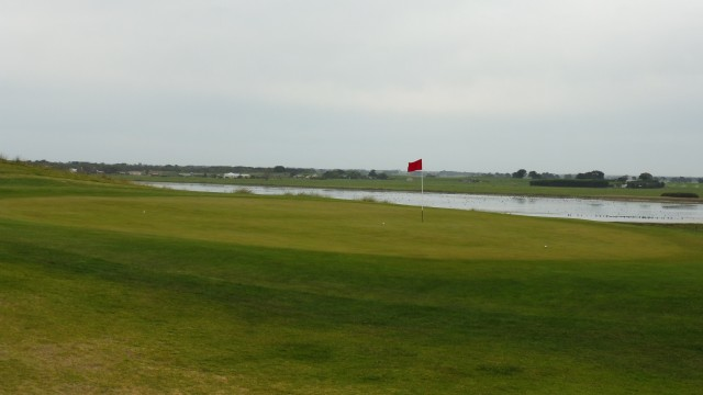 The 11th green at Port Fairy Golf Links