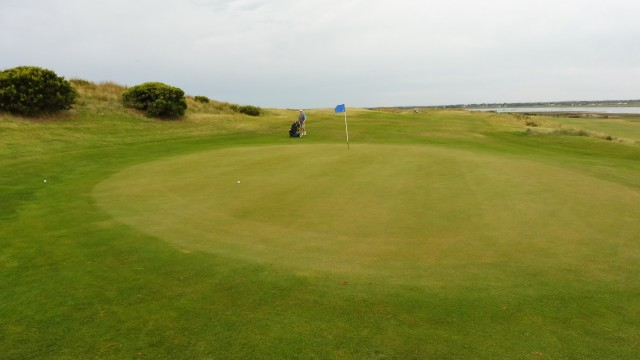 The 13th green at Port Fairy Golf Links