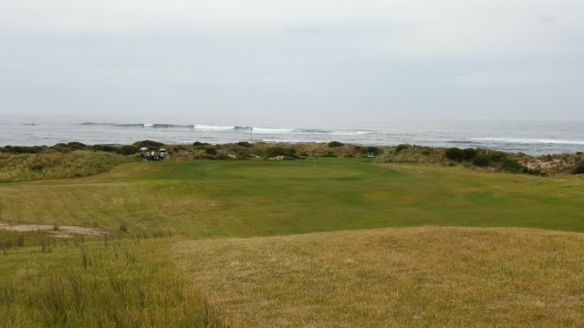 The 14th fairway at Port Fairy Golf Links