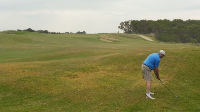 The 16th fairway at Port Fairy Golf Links
