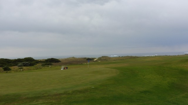 The 16th green at Port Fairy Golf Links