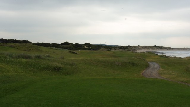 The 16th tee at Port Fairy Golf Links