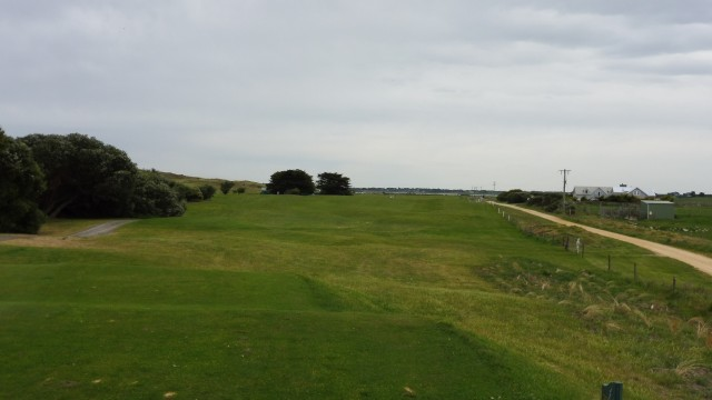 The 17th tee at Port Fairy Golf Links