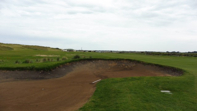 The 18th fairway at Port Fairy Golf Links