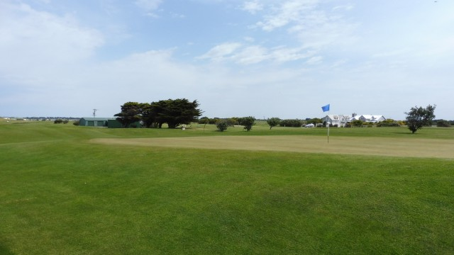 The 2nd green at Port Fairy Golf Links