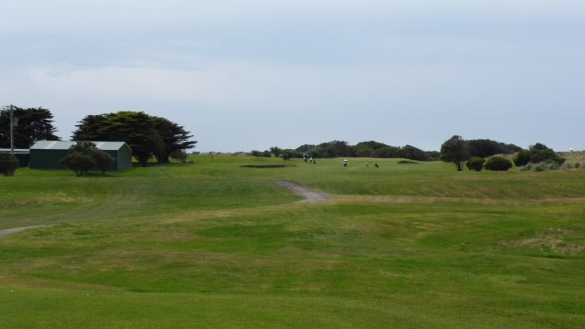 The 2nd tee at Port Fairy Golf Links