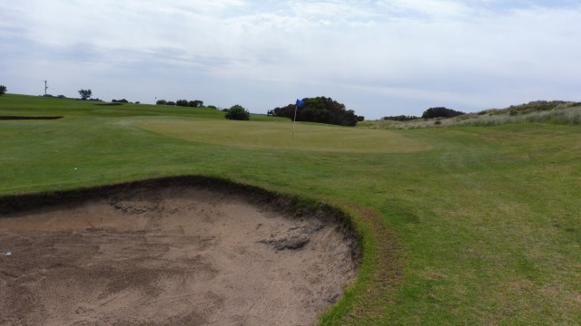 The 4th green at Port Fairy Golf Links