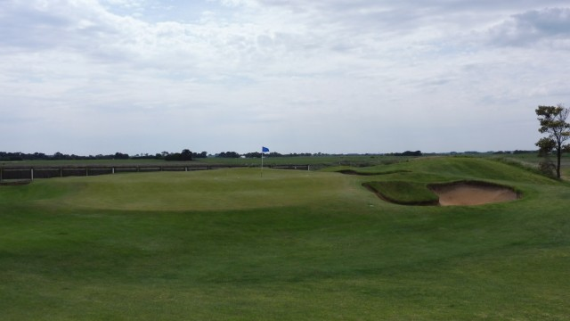 The 8th green at Port Fairy Golf Links