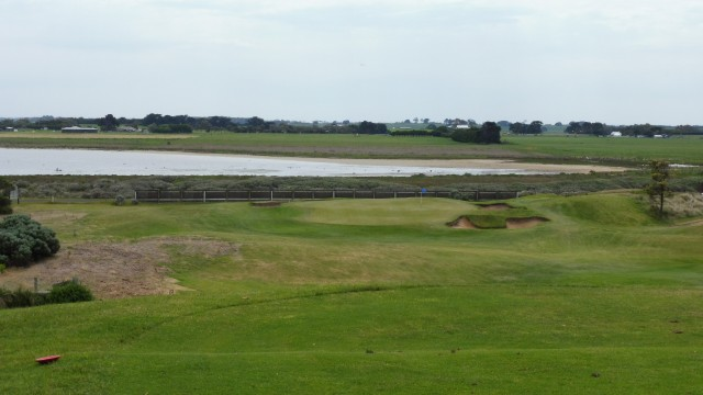 The 8th tee at Port Fairy Golf Links