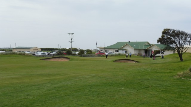 The 9th fairway at Port Fairy Golf Links