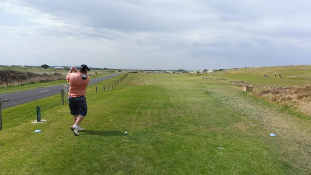 The 9th tee at Port Fairy Golf Links