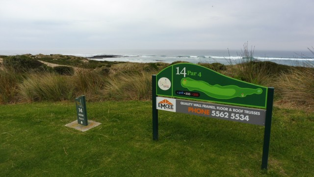 Hole Marker at Port Fairy Golf Links