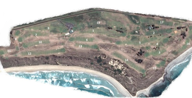 Map of Port Fairy Golf Links