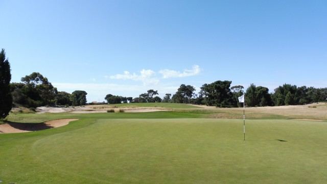 The 10th green at Royal Adelaide Golf Club