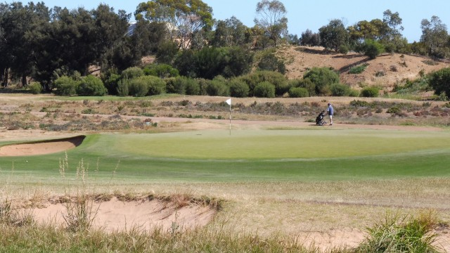 The 12th green at Royal Adelaide Golf Club