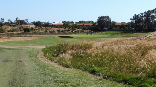 The 12th tee at Royal Adelaide Golf Club