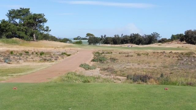 The 13th tee at Royal Adelaide Golf Club