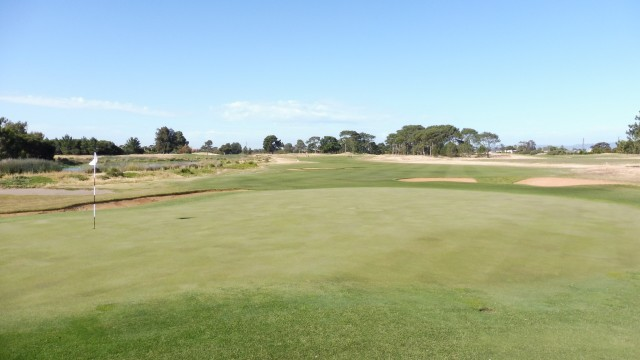The 15th green at Royal Adelaide Golf Club