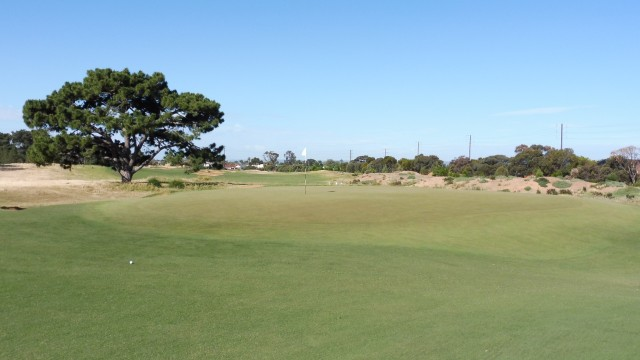 The 16th green at Royal Adelaide Golf Club