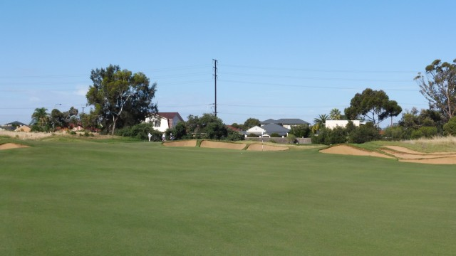The 17th green at Royal Adelaide Golf Club