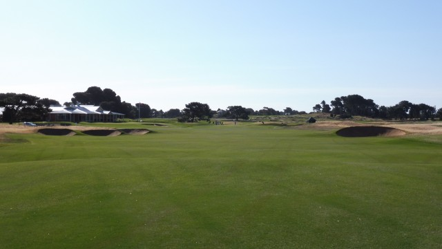 The 18th fairway at Royal Adelaide Golf Club