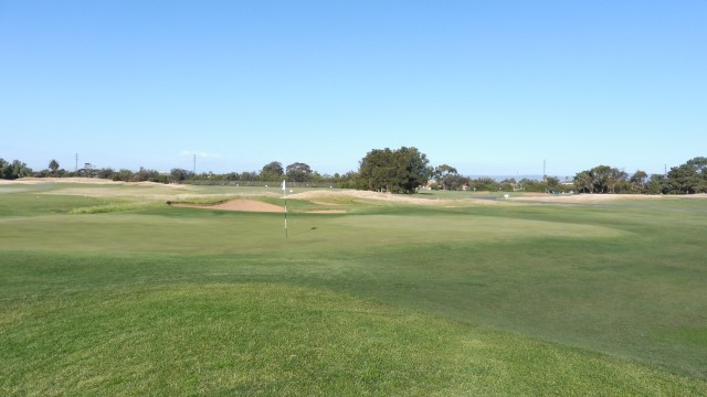 The 18th green at Royal Adelaide Golf Club