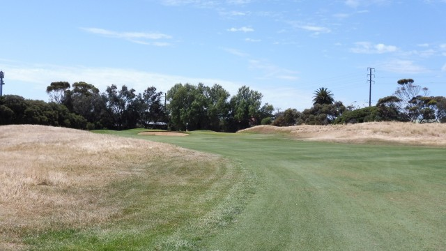 The 1st fairway at Royal Adelaide Golf Club