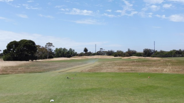 The 1st tee at Royal Adelaide Golf Club