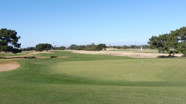 The 2nd green at Royal Adelaide Golf Club